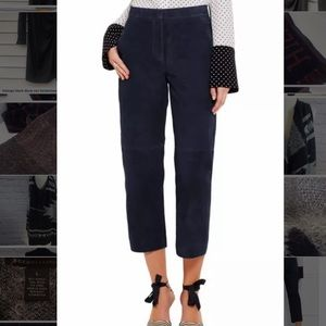 NWT J Crew Collection Suede Patio Pants Navy